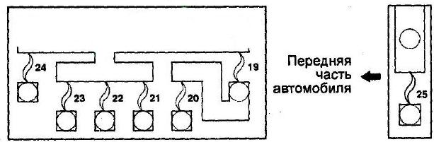 Блок на АКБ Схема