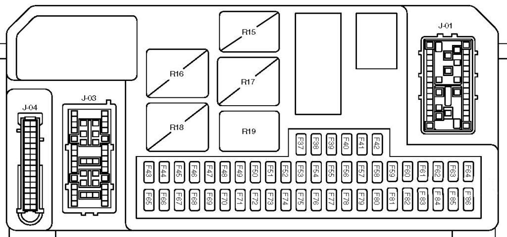Схема блока в салоне