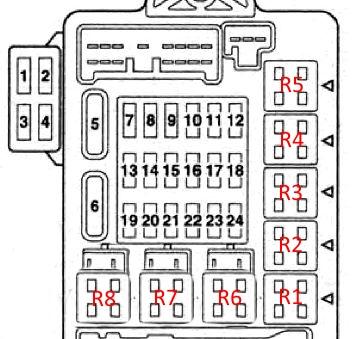 Схема блока в салоне галант 9