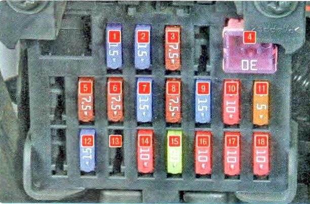 Фото схема блока в салоне мазда сх 7
