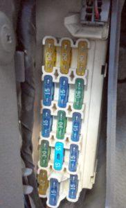 Фото блока в салоне