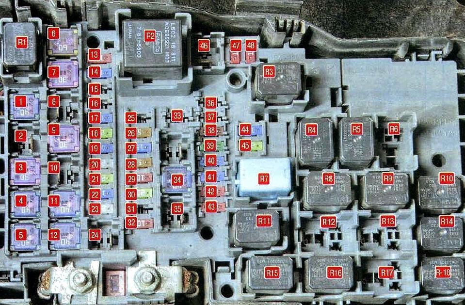 Схема блока под капотом мазда 6 gh