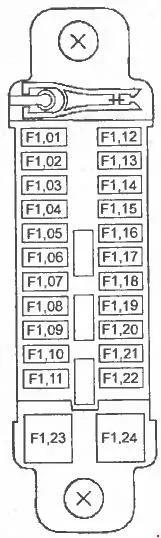 Схема блока в салоне 1