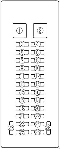 Схема блока в салоне мазда мпв