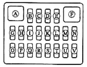 Схема блока в салоне мазда