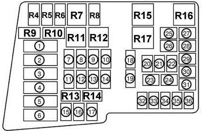 Схема блока под капотом мазда сх7 нов