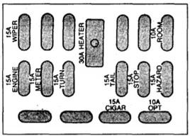 Схема в салоне Вариант 1