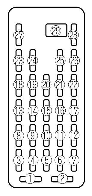 mazda millenia схема блока в салоне