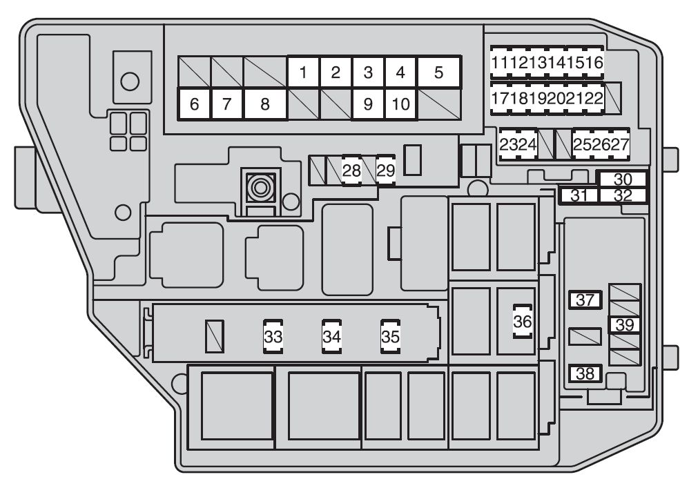 Блок под капотом Вариант 2 схема