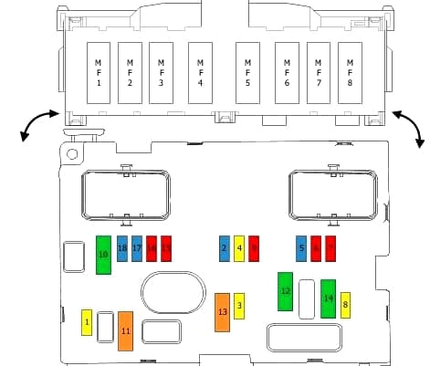 Блок под капотом вариант 1 схема