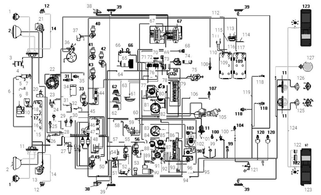 Электросхема Урал 5557 40