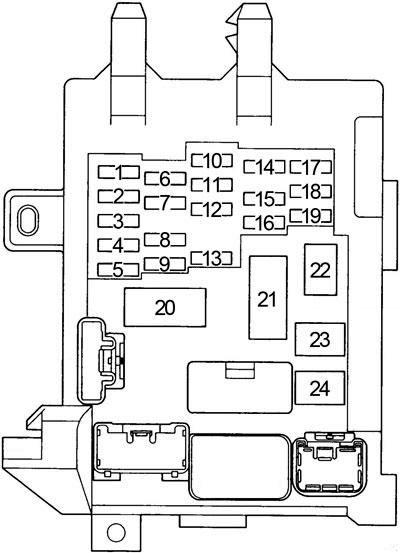 Схема блока 1 в салоне
