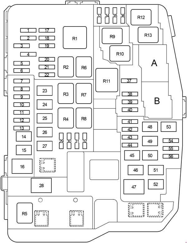 toyota corolla 180 схема блока под капотом