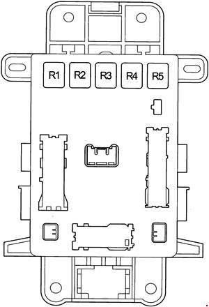 схема блока реле в салоне