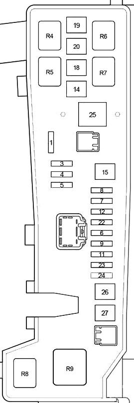 Схема блока под капотом вариант а