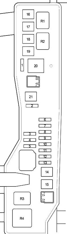 Схема блока под капотом вариант б