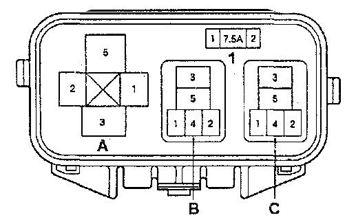 Схема блока АБС под капотом
