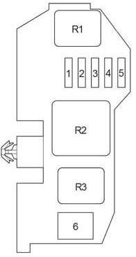 Схема блока реле Вариант 2