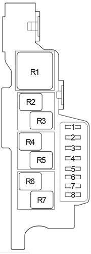 Схема блока реле 1 в салоне хайлюкс