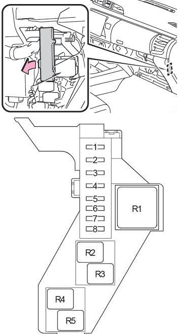 Схема блока реле 2