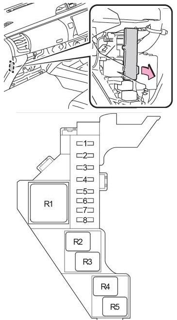 Схема блока реле 2 правый руль