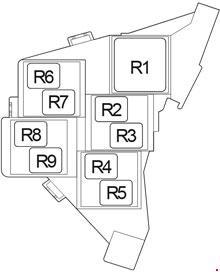 Схема блока реле 3 правый руль