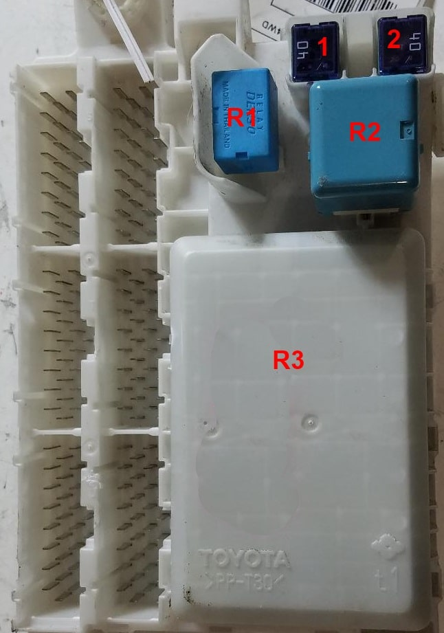 Фото схема блока с обратной стороны