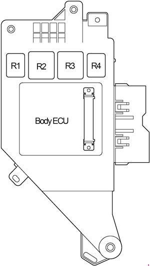 Схема реле в салоне