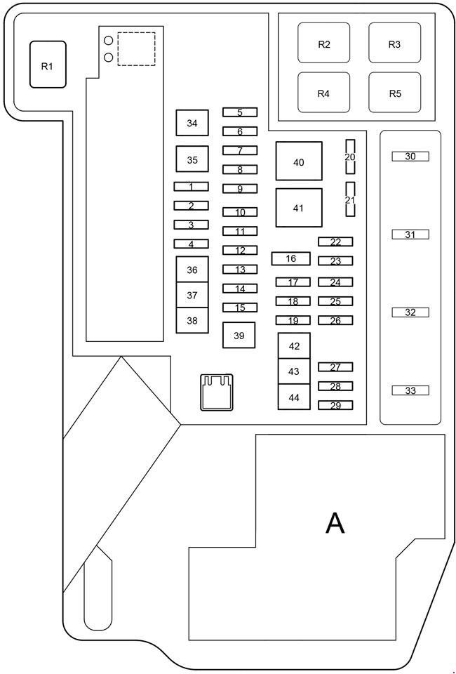 Схема блока под капотом приус 20