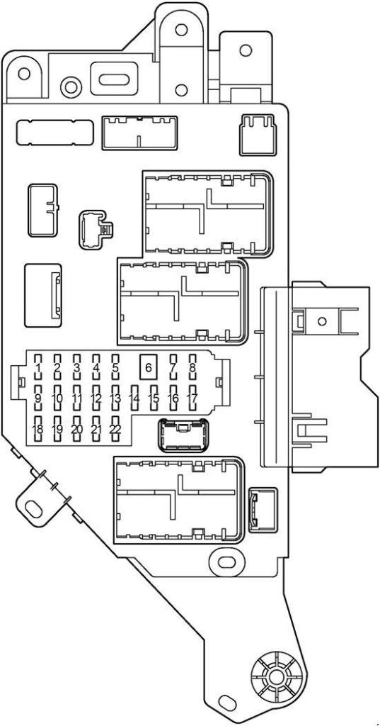 Схема правого блока реле