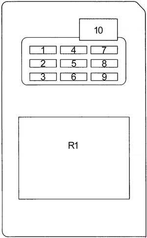 Схема блока в салоне 185