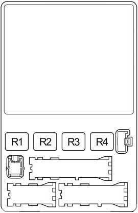 Схема блока реле с салоне