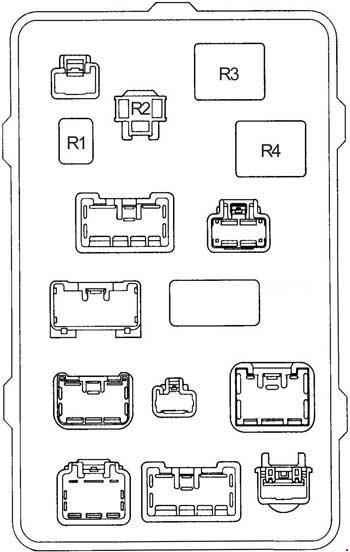 Схема реле с обратной стороны